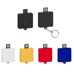 Custom Made PVC Slider USB Flash Drives Square USB3048 Various Colours