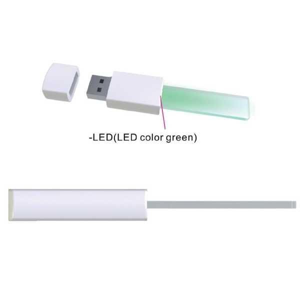 Custom Made PVC USB Flash Drives LED USB3030 White