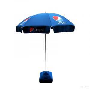 Custom Made Promotional Beach Umbrella Branded Pepsi