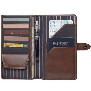Cutter Buck Travel Wallet CACB1007BR Brown Open 2