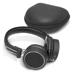 Cyberdyne Bluetooth Headphones CA109759 with Case Black