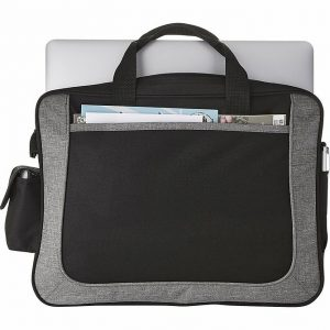 Dolphin Business Conference Messager Satchel Briefcase 5173BK Black Grey