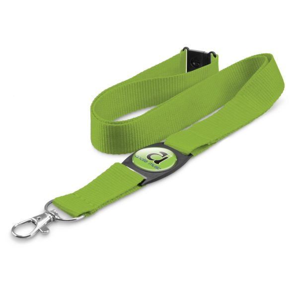 Domed Lanyard Lime Green