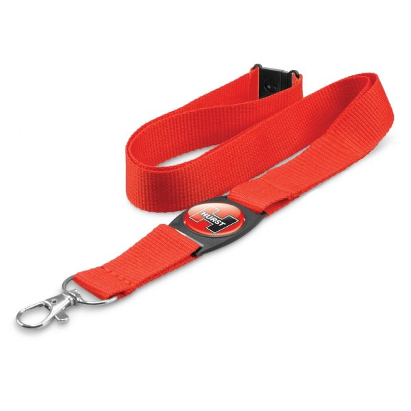 Domed Lanyard Red