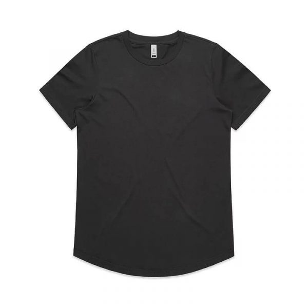 Drop T Shirts Womans 4052 Charcoal