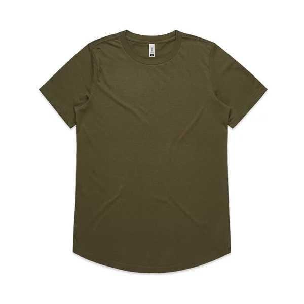 Drop T Shirts Womans 4052 Olive