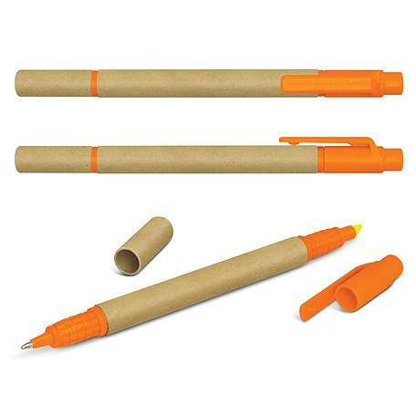 Eco Pen and Highlighter CA104360 Orange