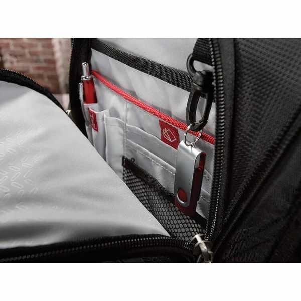 Elleven Checkpoint Friendly Compu Backpack EL003BK Black Front Pocket Inside