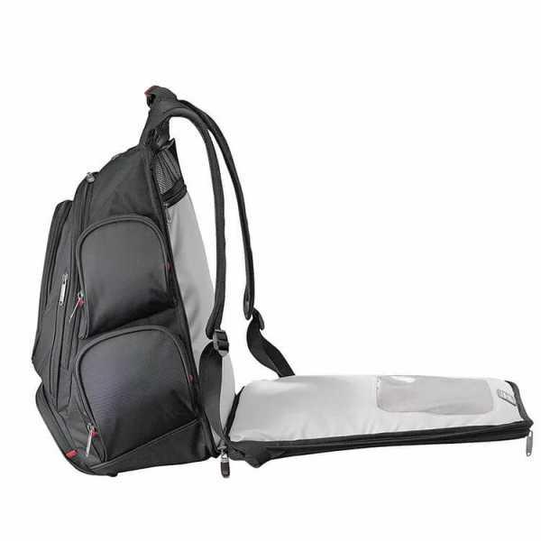 Elleven Checkpoint Friendly Compu Backpack EL003BK Black Laptop Pocket