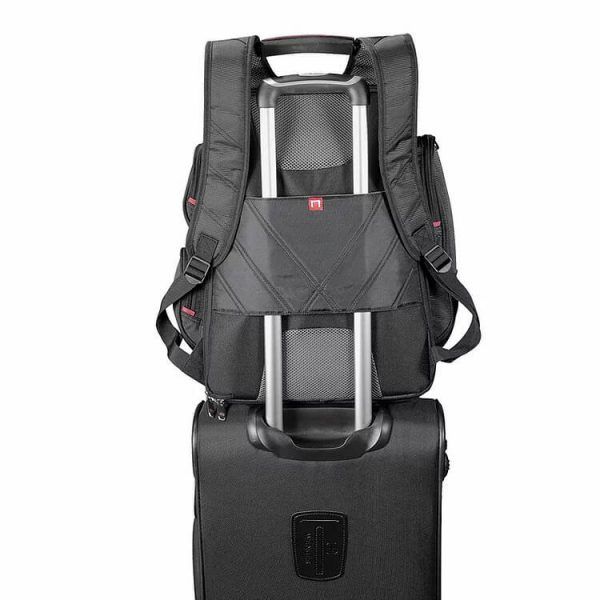 Elleven Checkpoint Friendly Compu Backpack EL003BK Black Trolley Strap