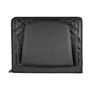 Elleven Large Zippered Padfolio EL001BK Black Front