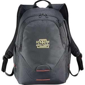 Elleven Motion Compu Backpack EL018BK Black Front