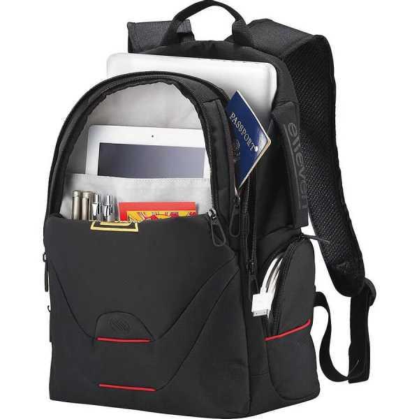 Elleven Motion Compu Backpack EL018BK Black Inside Details
