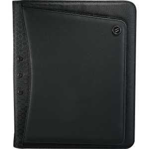 Elleven Vapor Zippered Padfolio EL017BK Black Front