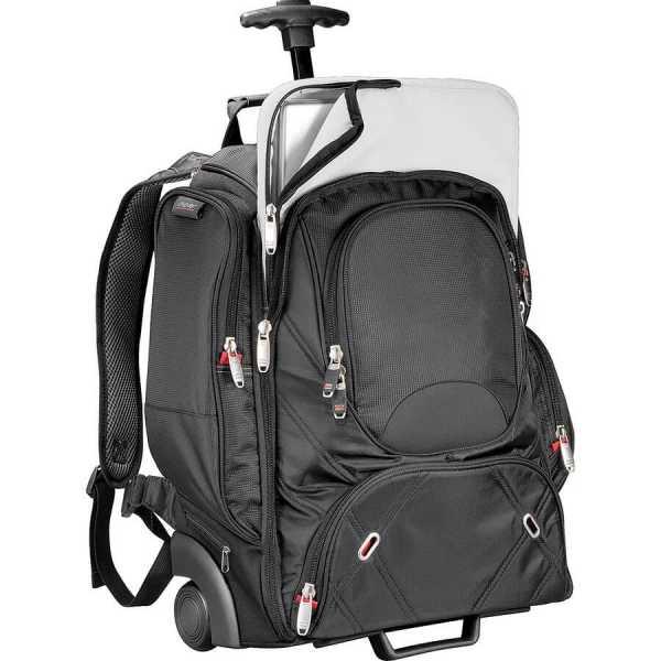 Elleven Wheeled Compu Backpack EL002BK Black Front 2