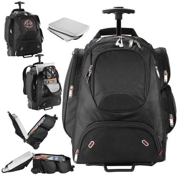 Elleven Wheeled Compu Backpack EL002BK Black Various