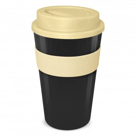 Express Cup Classic 480ml Logo Promotional Reusable Coffee Cup 112530 Black Cream