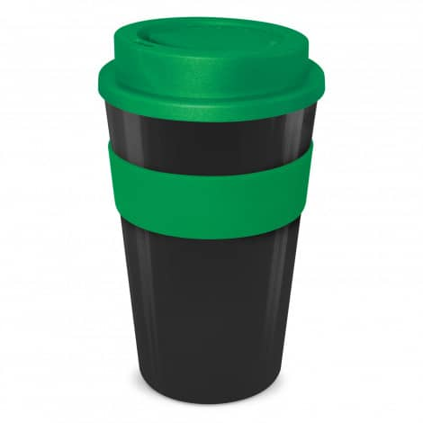 Express Cup Classic 480ml Logo Promotional Reusable Coffee Cup 112530 Black Green