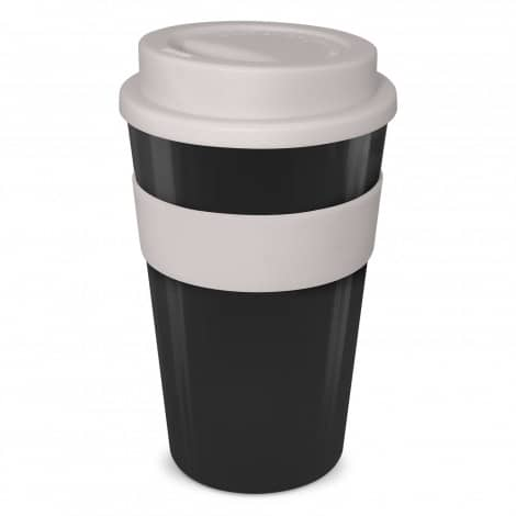 Express Cup Classic 480ml Logo Promotional Reusable Coffee Cup 112530 Black Grey