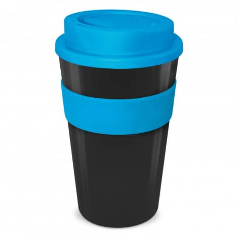 Express Cup Classic 480ml Logo Promotional Reusable Coffee Cup 112530 Black Light Blue