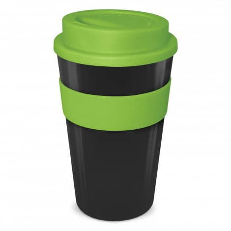 Express Cup Classic 480ml Logo Promotional Reusable Coffee Cup 112530 Black Lime Green