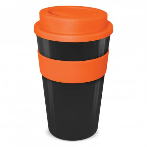 Express Cup Classic 480ml Logo Promotional Reusable Coffee Cup 112530 Black Orange