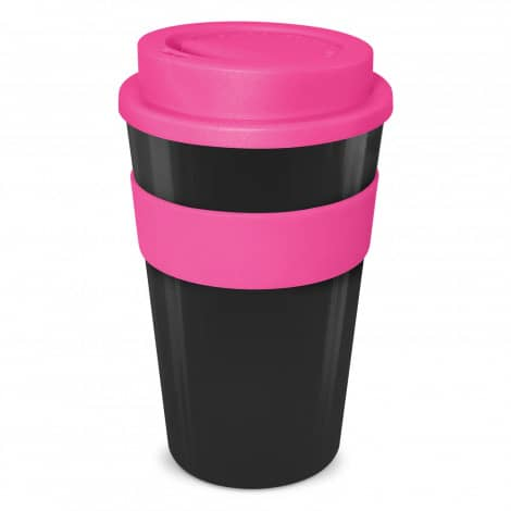 Express Cup Classic 480ml Logo Promotional Reusable Coffee Cup 112530 Black Pink