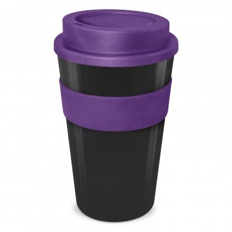 Express Cup Classic 480ml Logo Promotional Reusable Coffee Cup 112530 Black Purple
