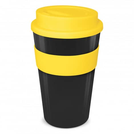 Express Cup Classic 480ml Logo Promotional Reusable Coffee Cup 112530 Black Yellow