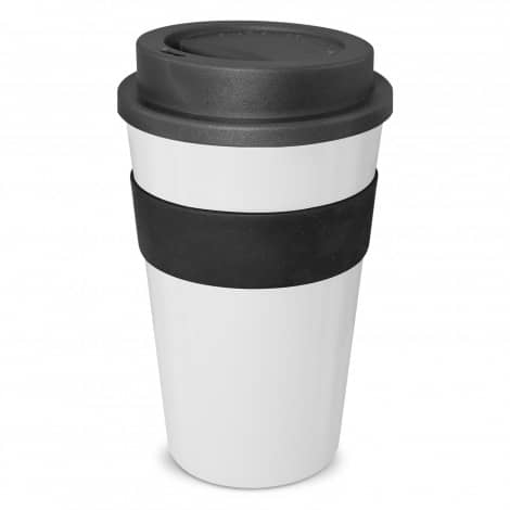 Express Cup Classic 480ml Logo Promotional Reusable Coffee Cup 112530 White Black