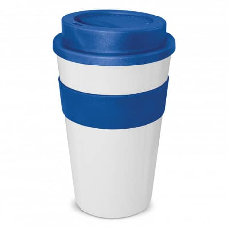 Express Cup Classic 480ml Logo Promotional Reusable Coffee Cup 112530 White Dark Blue