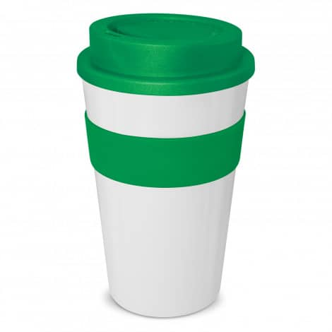 Express Cup Classic 480ml Logo Promotional Reusable Coffee Cup 112530 White Green