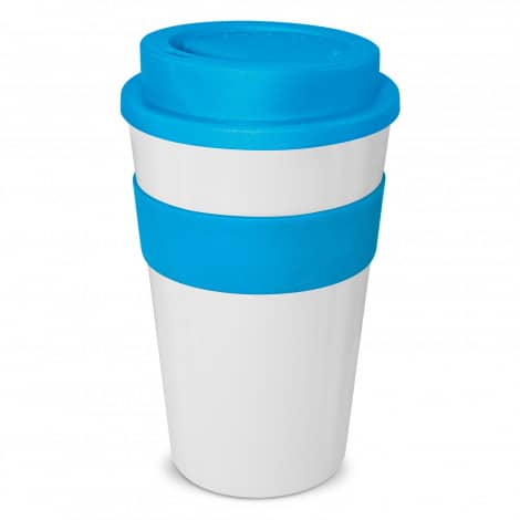 Express Cup Classic 480ml Logo Promotional Reusable Coffee Cup 112530 White Light Blue