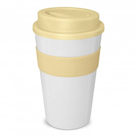 Express Cup Classic 480ml Logo Promotional Reusable Coffee Cup 112530 White Natural