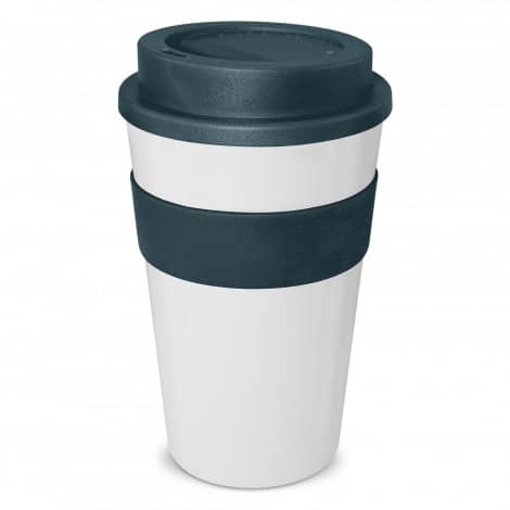 Express Cup Classic 480ml Logo Promotional Reusable Coffee Cup 112530 White Navy