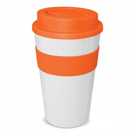 Express Cup Classic 480ml Logo Promotional Reusable Coffee Cup 112530 White Orange