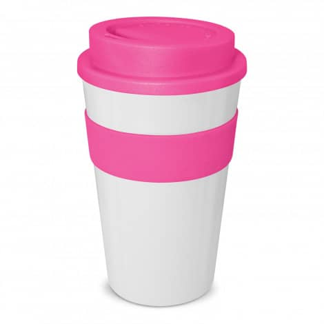 Express Cup Classic 480ml Logo Promotional Reusable Coffee Cup 112530 White Pink