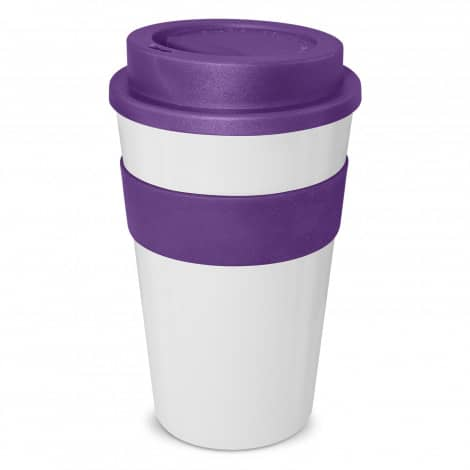 Express Cup Classic 480ml Logo Promotional Reusable Coffee Cup 112530 White Purple