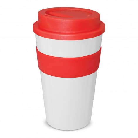 Express Cup Classic 480ml Logo Promotional Reusable Coffee Cup 112530 White Red