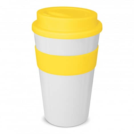 Express Cup Classic 480ml Logo Promotional Reusable Coffee Cup 112530 White Yellow