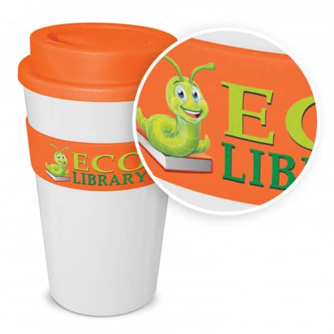 Express Cup Classic 480ml Logo Promotional Reusable Coffee Cup 112530 White with branding