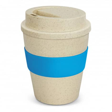 Express Cup Classic Natura 350ml Logo Promotional Reusable Coffee Cup 117303 Light Blue