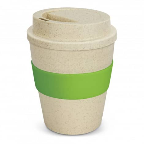 Express Cup Classic Natura 350ml Logo Promotional Reusable Coffee Cup 117303 Lime Green