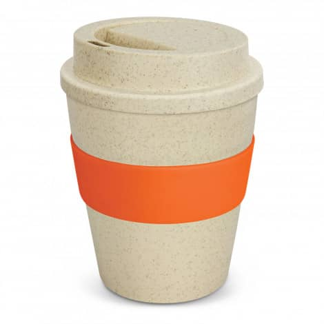 Express Cup Classic Natura 350ml Logo Promotional Reusable Coffee Cup 117303 Orange