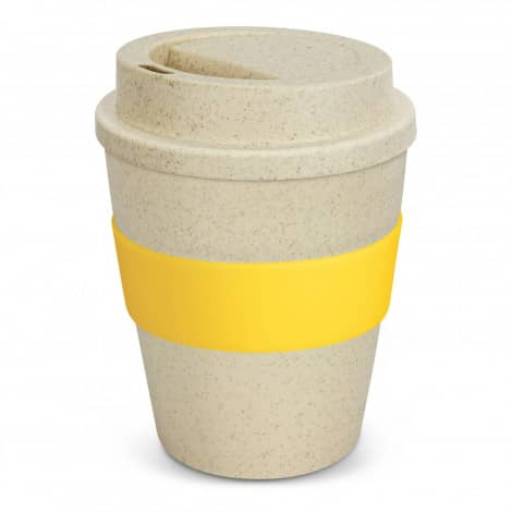 Express Cup Classic Natura 350ml Logo Promotional Reusable Coffee Cup 117303 Yellow