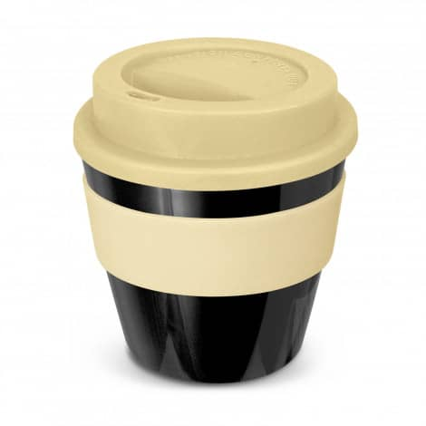 Express Cup Classic Reusable Coffee Cup Promotional Logo 115792 Black Cream
