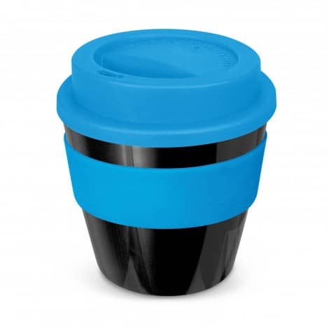 Express Cup Classic Reusable Coffee Cup Promotional Logo 115792 Black Light Blue