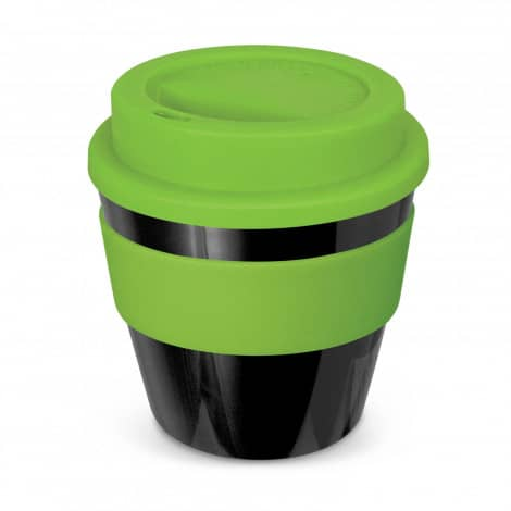 Express Cup Classic Reusable Coffee Cup Promotional Logo 115792 Black Lime Green