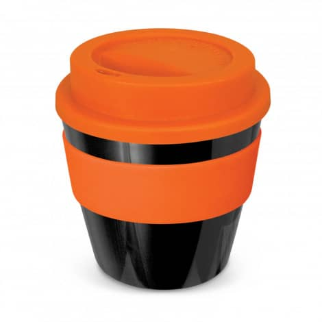 Express Cup Classic Reusable Coffee Cup Promotional Logo 115792 Black Orange