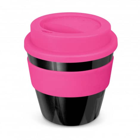 Express Cup Classic Reusable Coffee Cup Promotional Logo 115792 Black Pink